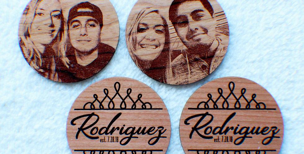Personalized Wood Photo Coasters