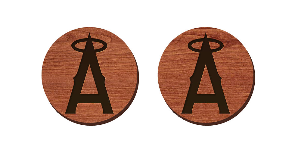 Los Angeles Angels Baseball Stud Earrings