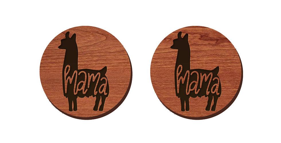 Mama Llama Stud Earrings