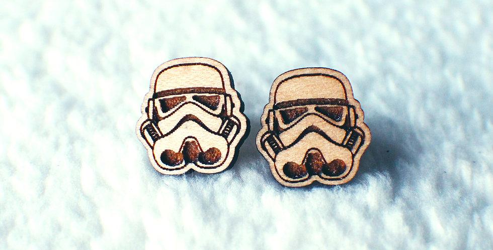 Stormtrooper Stud Earrings
