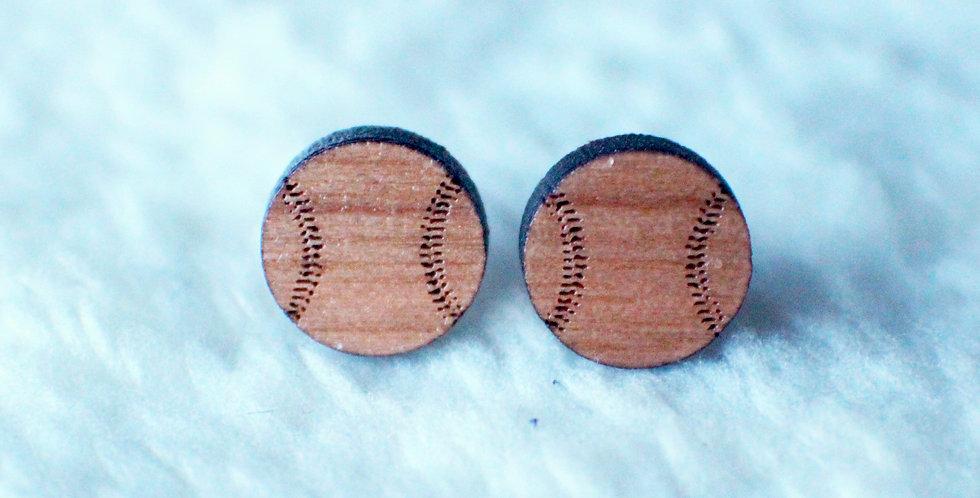 Baseball Stud Earrings