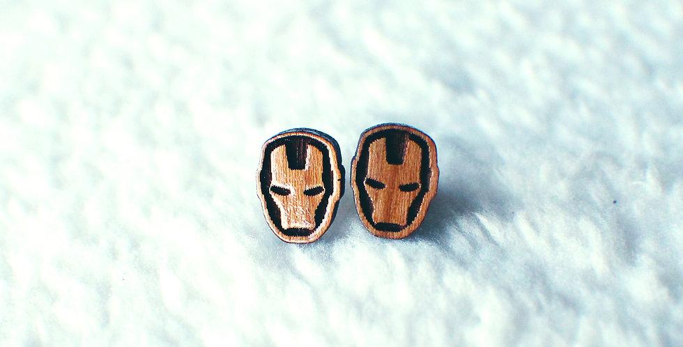 Iron Man Stud Earrings