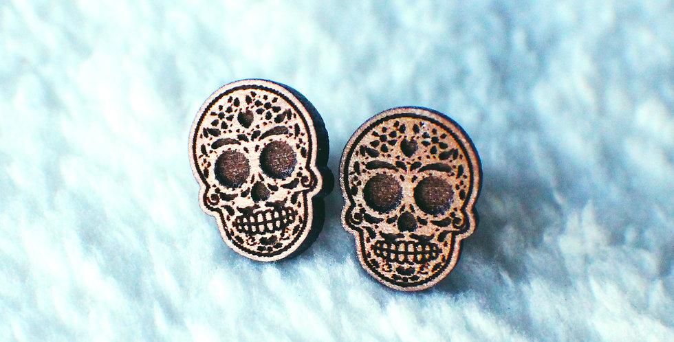 Sugar Skull Stud Earrings