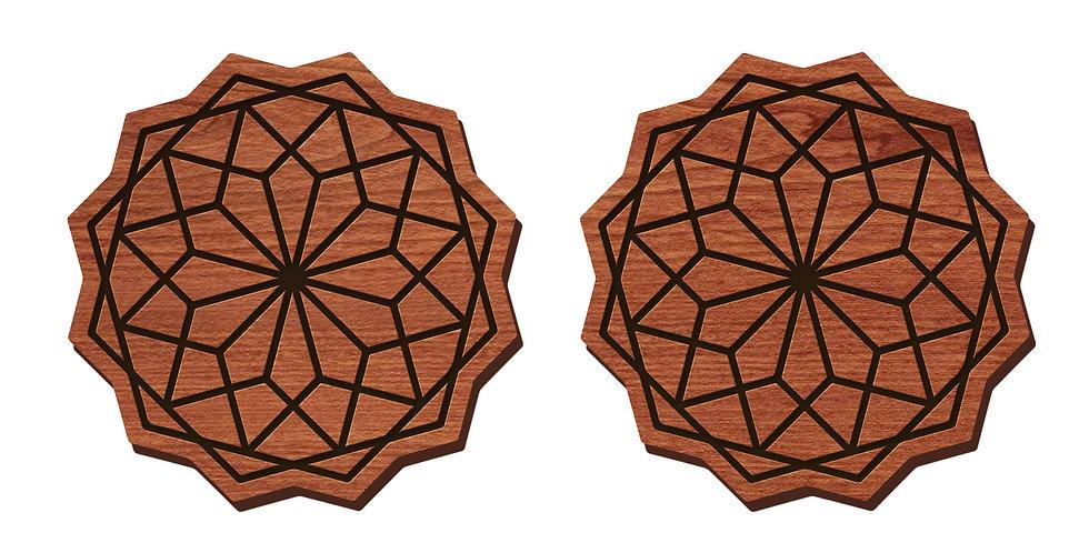 Geometric Flower Stud Earrings
