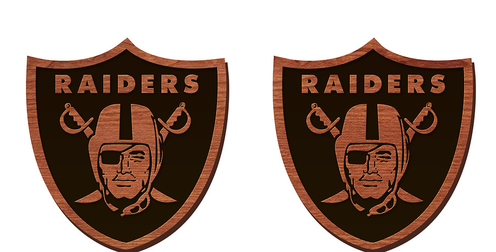 Las Vegas Raiders Stud Earrings