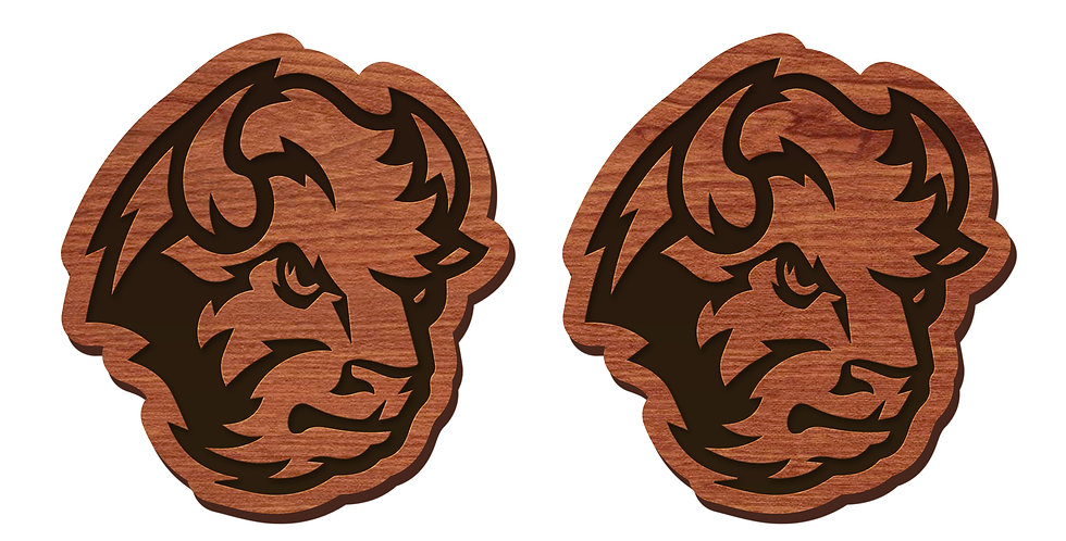 NDSU Bison Stud Earrings
