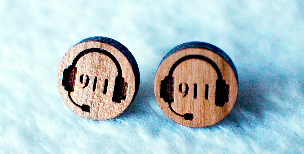 911 Dispatch Stud Earrings