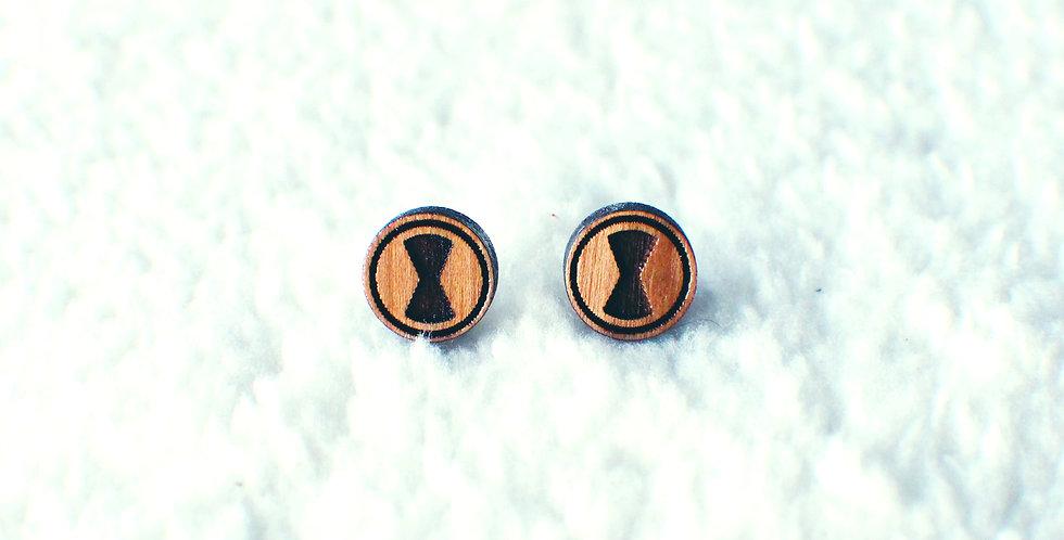 Black Widow Stud Earrings