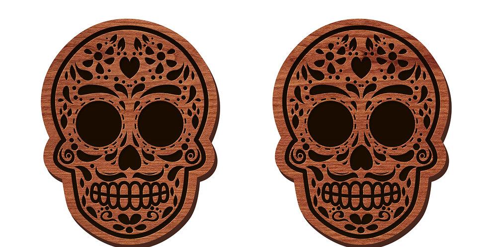 Día de los Muertos (Sugar Skull) Stud Earrings