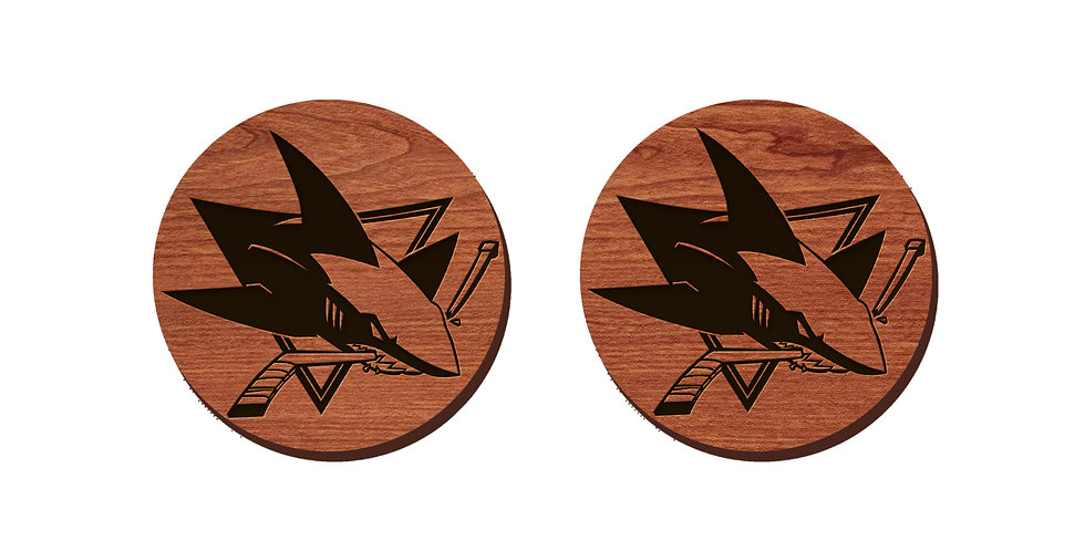 San Jose Sharks Stud Earrings
