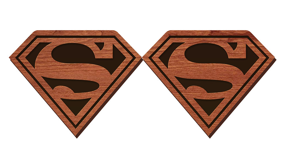 Superman Stud Earrings