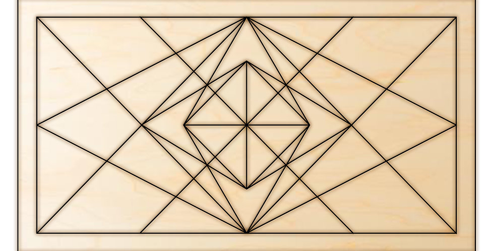 DIY Kit Geometric Barn Quilt Design 3