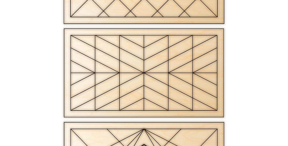 DIY Kit Geometric Barn Quilt Bundle
