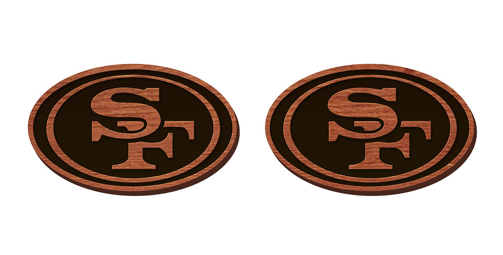 San Francisco 49ers Stud Earrings