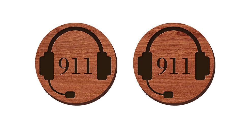 911 Dispatcher Stud Earrings