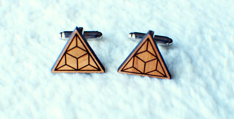 Geometric Triangle Cufflinks