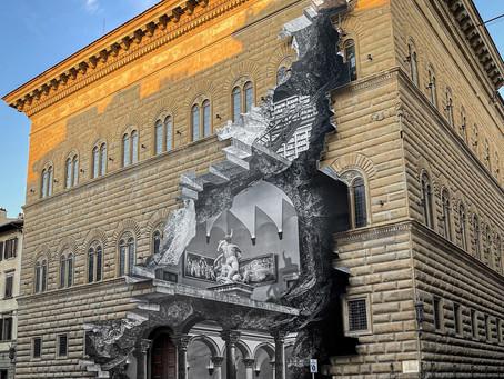 La Ferita, le trompe-l'œil géant offert par l'artiste JR aux Florentins