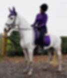 Lauren and her horse Bella