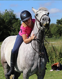 Abbey and her Connemara Pony Shadow