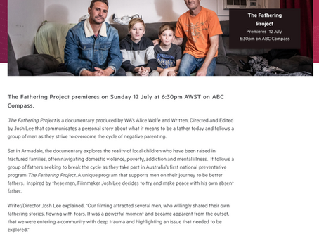 The Fathering Project to Premiere on ABC Compass - Screenwest
