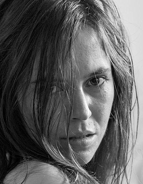 Portrait close-up noir et blanc