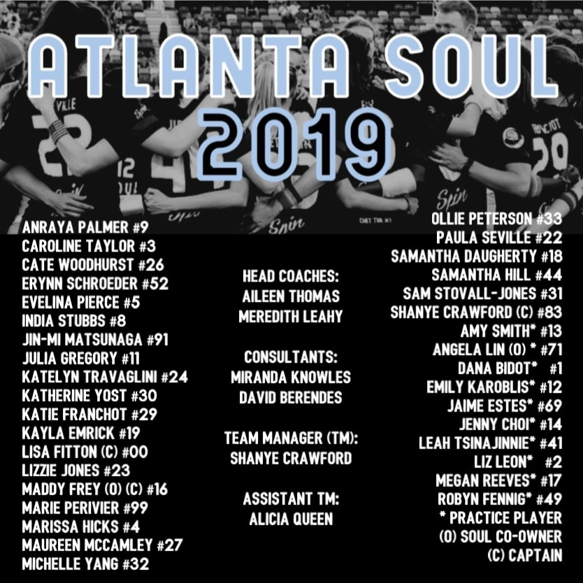 Atlanta Soul Roster 2019_Updated May 26.