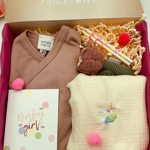 Einhorn Baby Geschenkset Babygirl Geburtsgeschenk Taufgeschenk
