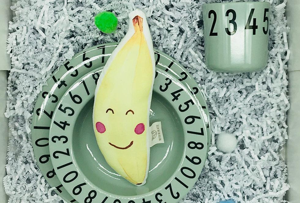 Babyset Bananenschmaus - Geschirrset mit Bananenrassel