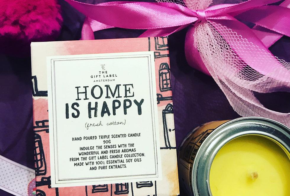 Home is happy Kerze klein