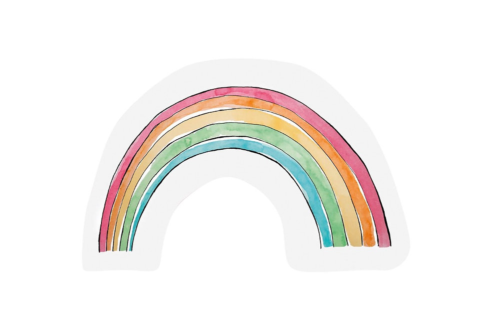 Regenbogen Rainbow Karte