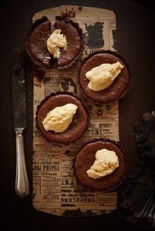 Chocolate malteser tarts