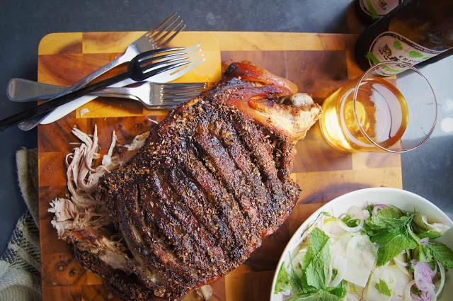 Apple Cider and Fennel Roasted Pork Shoulder
