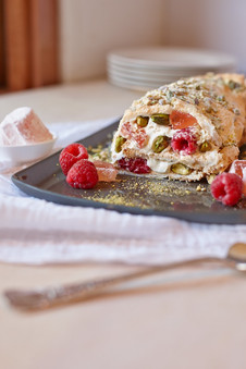 Turkish delight roulade