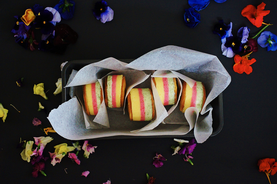The prettiest ice cream sandwiches