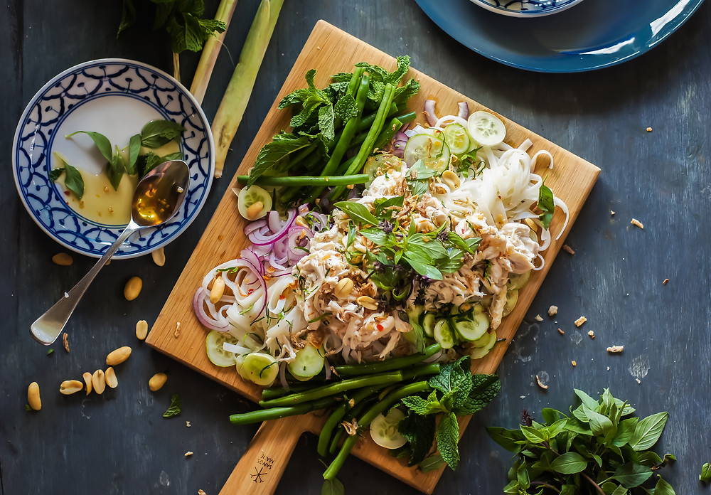 Kaffir lime and coconut poached chicken