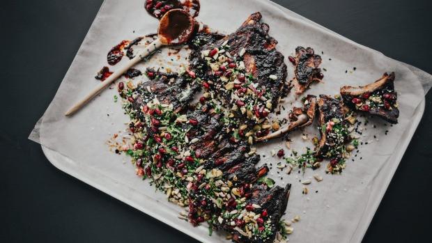 BBQ Ribs in Pomegranate Molasses