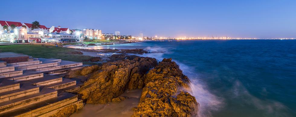 Beachfront at night (Boardwalk on the left) - 10 min drive