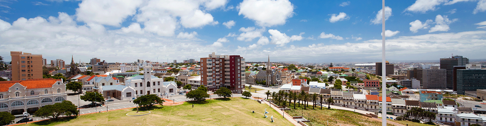 View from Donkin Reserve Lighthouse toward Parsons Hill