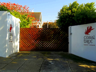 Entrance gate at 15 Conyngham Road, Parsons Hill.
