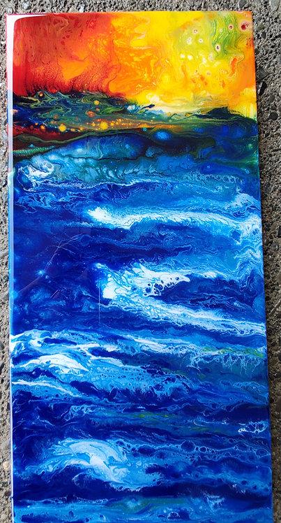 When the Sea Meets the Crimson Sky