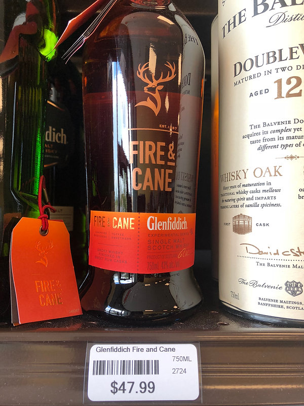 Glenfiddich Fire and Cane Scotch Whisky