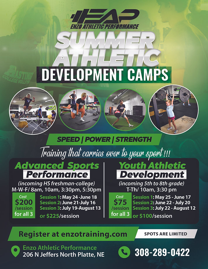 Summer Athletic Development Camps New co