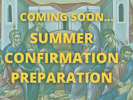 Summer Youth Confirmation Prep