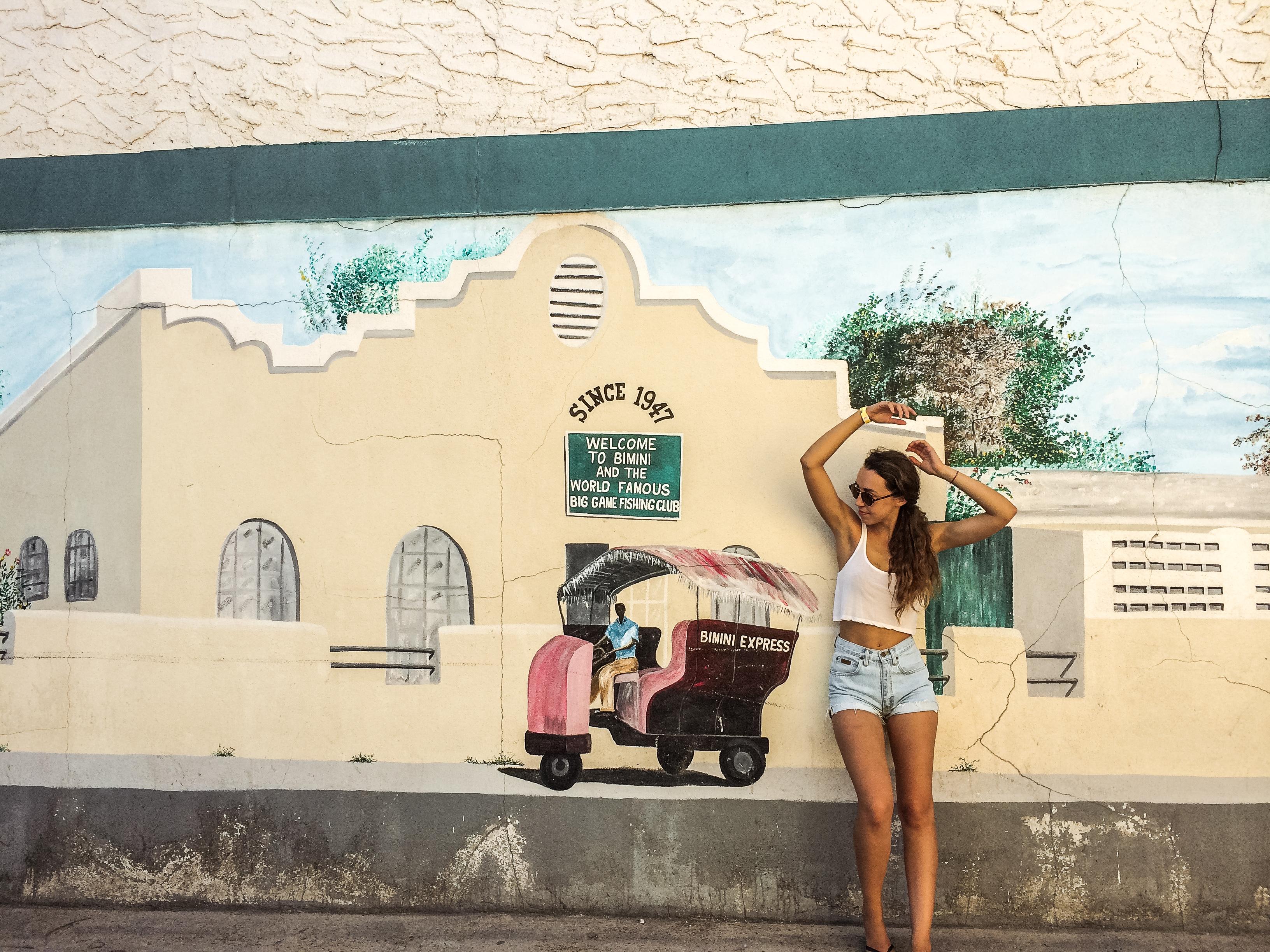 Strolling around Bimini