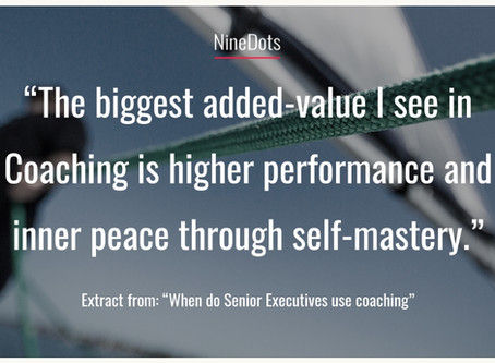 When do Senior Executives use coaching?