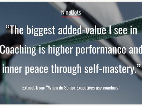 When do Senior Executives use coaching?