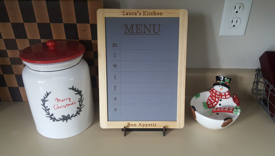 Engraved Kitchen Menu Board