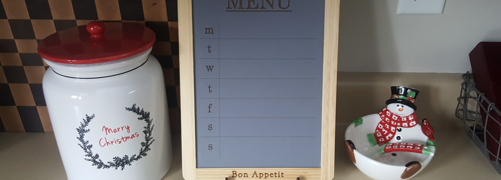 Engraved Kitchen Menu Board