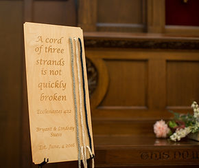 Wedding Cord Ceremony Board