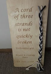Wedding Cord Ceremony Plaque
